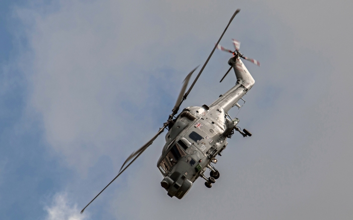 The Lynx H M mk 8 makes its last AIr Day Appearance