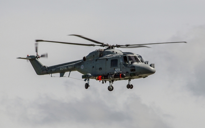 Westland Lynx HAS mk 3 carrying a Stingray Torpedo